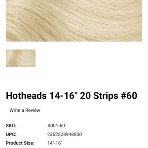 HotHeads Original Tape-In Hair Extensions 14-16""